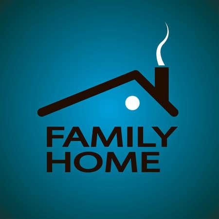 residency: illustration family home design over background  in vector Illustration