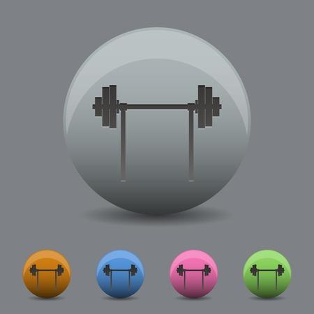 dumbell: Illustrazione vettoriale di icona bilanciere disegno wihh ombra