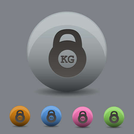 shove: illustration of  weight icon in  design with  shadow