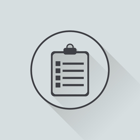 sketchpad: illustration of  textbook icon in flat design with long shadow
