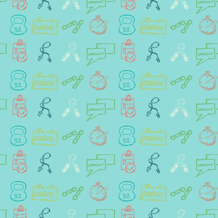 Vector Illustrations of healthy lifestyle pattern for background Vector