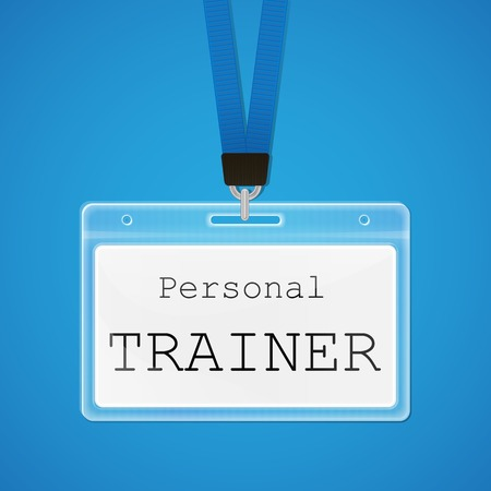 personal trainer: Vector illustration of badje of personal trainer