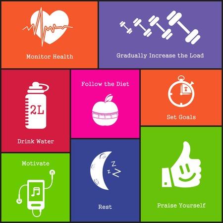 increase fruit: illustration of healthy life style icon on background Illustration