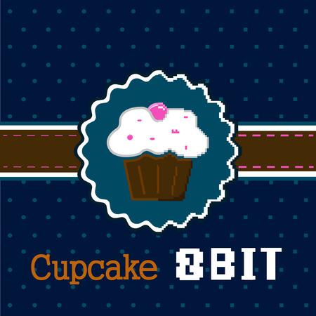 8 bit: ilustraci�n de la magdalena de chocolate en 8 bits