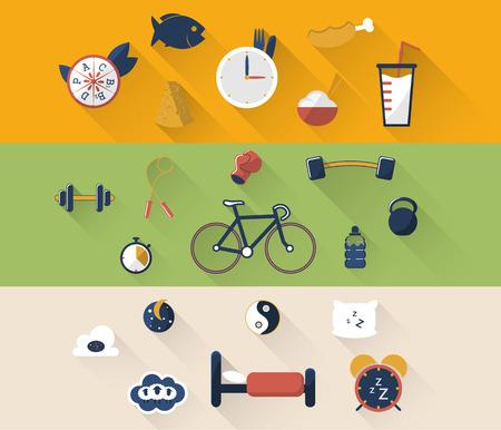 illustratie van de sport icon in flat ontworpen Stock Illustratie