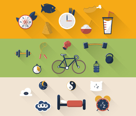 control tools: illustration of sport icon in flat designed