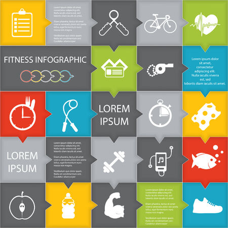 medicine infographic: illustration of health lifestyle infographic in flat designed without shadow Illustration