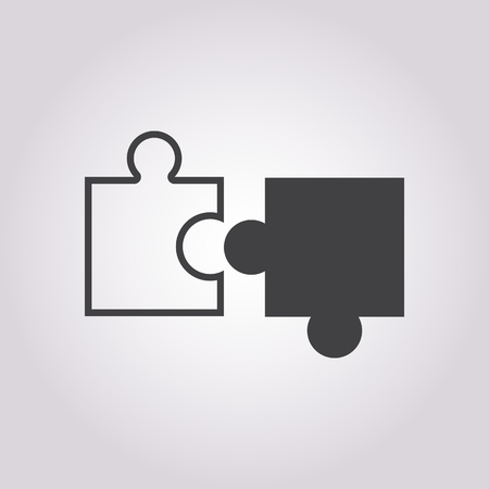 vector illustration of business and finance icon puzzle