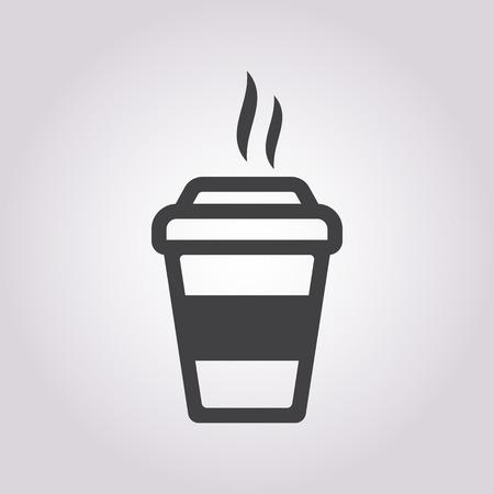 tazza di th�: illustrazione vettoriale di caff� Affari e finanza icona