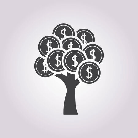 money tree: vector illustration of business and finance icon tree coin