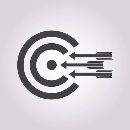 challenge: vector illustration of business and finance icon target