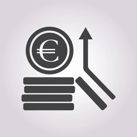 euro coins: vector illustration of business and finance icon euro coins