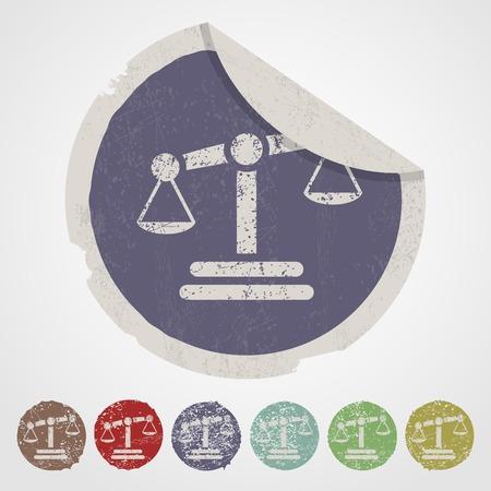 judicial system: ilustraci�n vectorial de negocios y las finanzas escalas icono