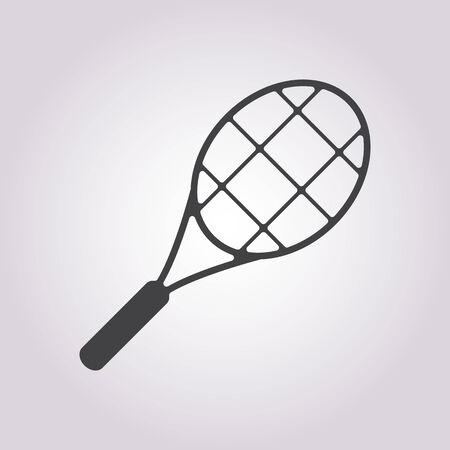 raqueta de tenis: ilustraci�n vectorial de la raqueta de negocios y finanzas icono