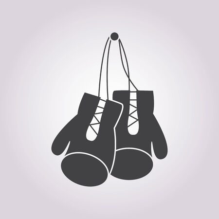 boxing equipment: illustration of business and finance icon boxing gloves