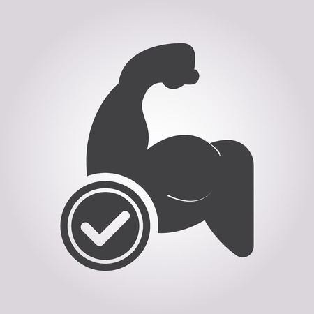 tricep: illustration of business and finance icon muscle