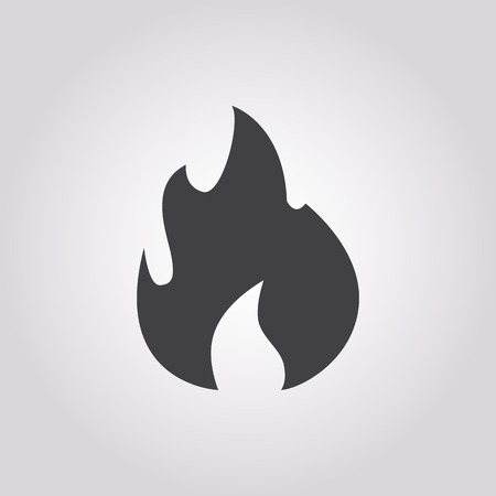 explosion hazard: vector illustration of modern b lack icon fire