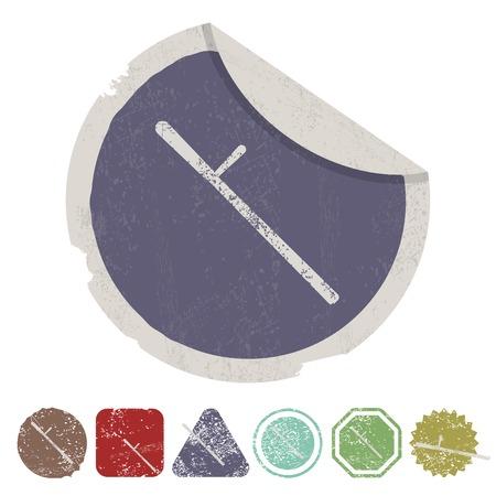 estafette stokje: vector illustratie van de moderne b gebrek icoon baton bescherming