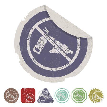 discharge: vector illustration of modern b lack icon fire extinguisher Illustration