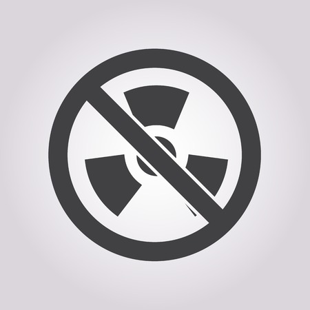 fusion: vector illustration of modern b lack icon radiation