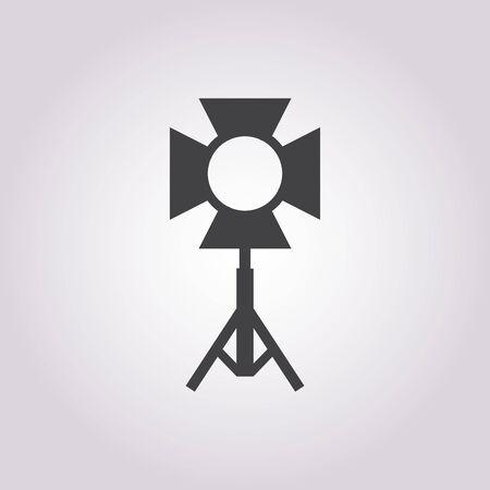 spotlight on stage: vector illustration of modern b lack icon spotlight