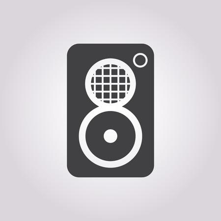 subwoofer: illustrazione vettoriale di moderna icona b mancanza subwoofer Vettoriali