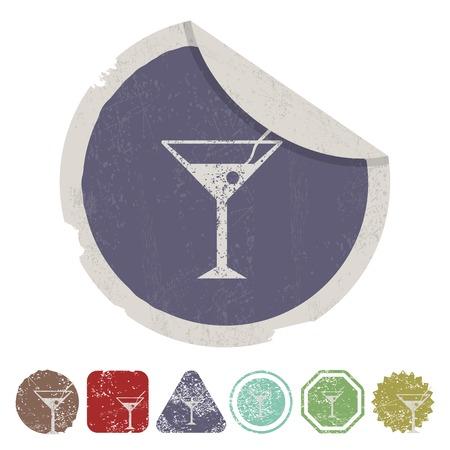 con: vector illustration of modern i con martini