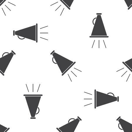 vector illustration of modern b lack icon horn Ilustração