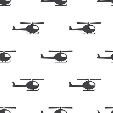 vector illustration of modern b lack icon helicopter Illustration