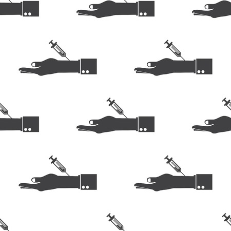 flue: vector illustration of modern b lack pattern syringe Illustration