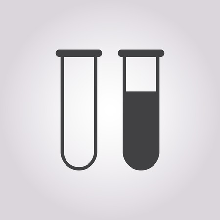 drug discovery: vector illustration of modern b lack icon test-tube Illustration