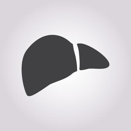higado humano: ilustraci�n vectorial de la moderna b falta icono h�gado