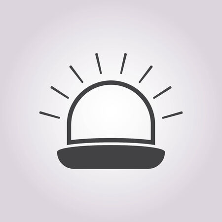 vector illustration of modern b lack icon siren