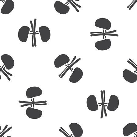 vector illustration of modern b lack pattern kidneys