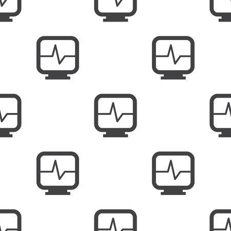 heart monitor: vector illustration of modern b lack pattern heart monitor