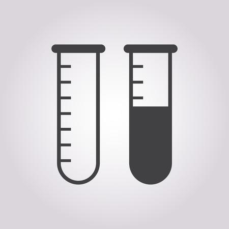 drug test: vector illustration of modern b lack icon test-tube Illustration