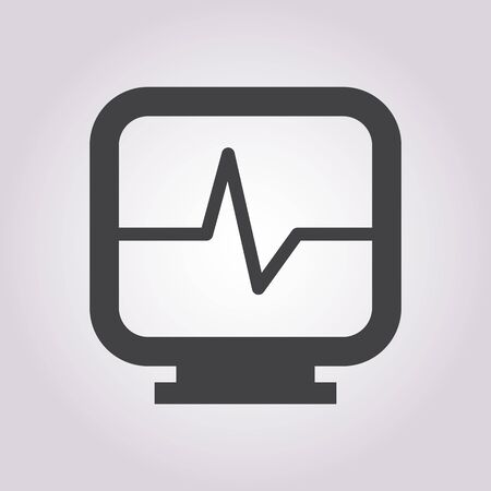 heart monitor: vector illustration of modern b lack icon heart monitor