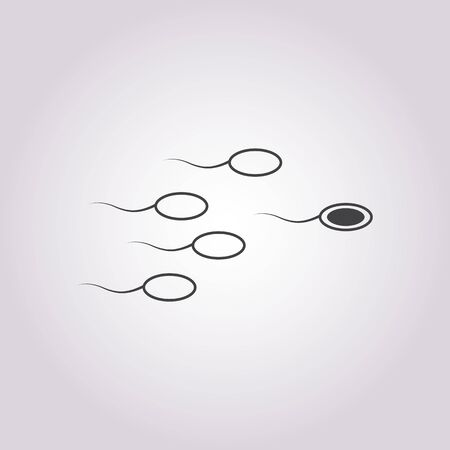 procreation: vector illustration of modern b lack icon sperm