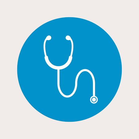 stethascope: vector illustration of modern b lue icon stethoscope Illustration