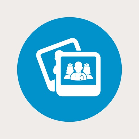 adviser: vector illustration of modern b lue icon personnel medical Illustration