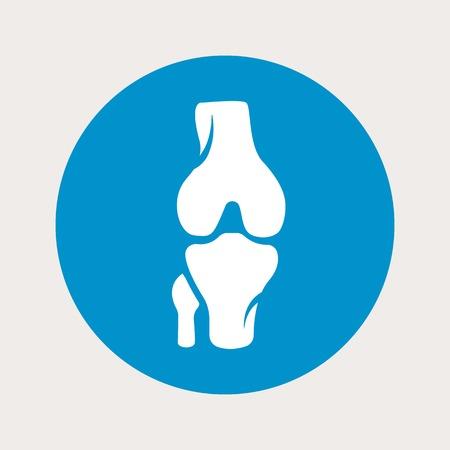 vector illustration of modern b lue icon bone