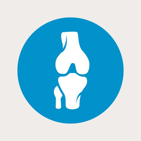 vector illustration of modern b lue icon bone