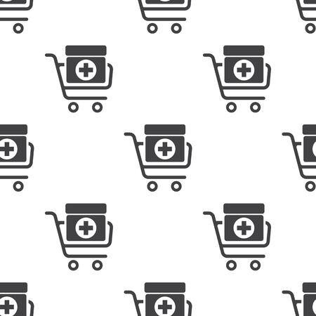 simplistic icon: vector illustration of modern b lack pattern medicines