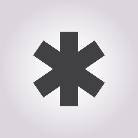 esculapio: ilustraci�n vectorial de la moderna b falta icono m�dica