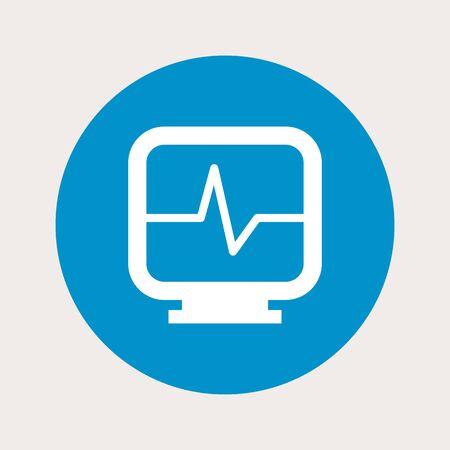 heart monitor: vector illustration of modern  b lue icon heart monitor Illustration