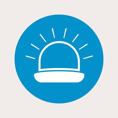 watt: vector illustration of modern  b lueb lack icon siren