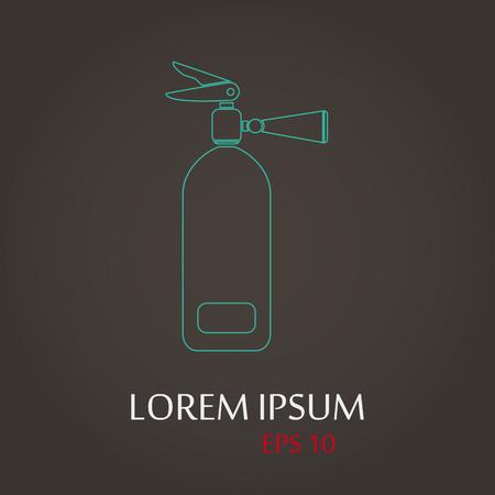 lack: vector illustration of modern b lack icon fire extinguisher Illustration