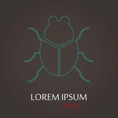 lack: vector illustration of modern b lack icon virus
