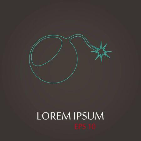 lack: vector illustration of modern b lack icon bomb