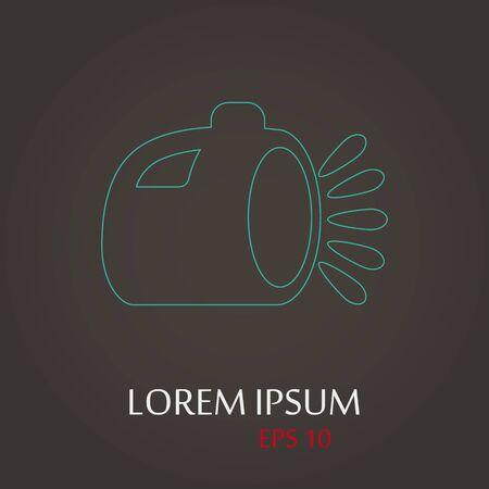 lay off: vector illustration of modern b lack icon lantern